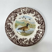 "Spode Woodland Canada Goose Salad Plates 7.75"" Made In England Set Of 2 NWT - $38.61"