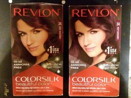 2 Pack Revlon Colorsilk Beautiful Color for Unisex, 34 Deep Burgundy - $8.86