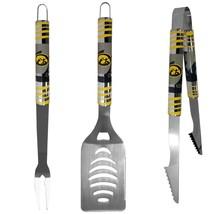 iowa hawkeyes college football 3 piece tailgater bbq set stainless steel - $45.12
