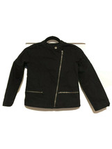 Youth Girls Gap Kids Quilted Moto Jacket Asymmetrical Zip Sz MD EUC - $14.82