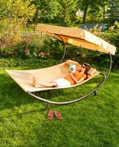 Double Outdoor Lounge Chair Canopy - Outdoor Furniture  - $169.95