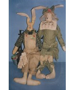 "Craft Pattern-25"" Folkart Bunny Doll & Clothes-Easter-Home Decor - $9.46"