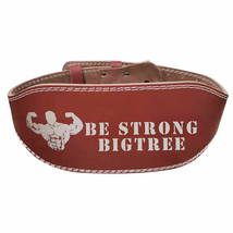 """Weight Lifting Belt Cow Hide Leather Double Prong Back Support Large 35""""-43"""" - $18.99"""