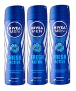Nivea for Men Spray Deodorant, Fresh Active, 150 ml (Pack of 3) - $32.99