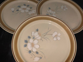 """Vintage Stoneware Hearthside DAWN Water Color 3 Plates 10-3/4"""" Water Color - $37.17"""