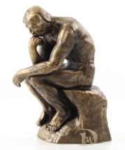 Iron Sculpture shows the Thinker Rodin signed antique home decor  *Free Shipping - $149.00