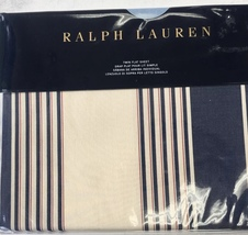Ralph Lauren Saranac Peak Corbet Stripes Twin Flat Sheet Tan/ Multi m.s.... - $49.99