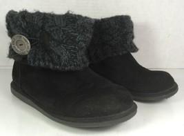 Muk Luks Black Faux Suede Boots Womens Size US 8 - $24.25