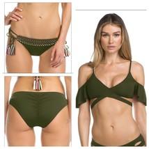 Net A Porter Becca Bikini Set Tie Bikini Bottom XS and Top M Bay Leaf - $41.13