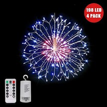 Firework Lights,198 LED Copper String Lights,8 Modes Dimmable Hanging Fa... - $39.97