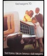 1970 Ford Station Wagon Brochure Torino Falcon Bronco - $11.53