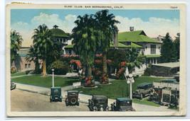 Elks Club San Bernardino California 1933 postcard - $6.44