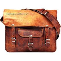New Men's Genuine Vintage Brown Leather Messenger Shoulder macbook Brief... - $62.96