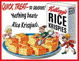 Kelloggs Rice Krispies Treats Snap Crackle Pop Vintage Ad Metal Sign - $29.95