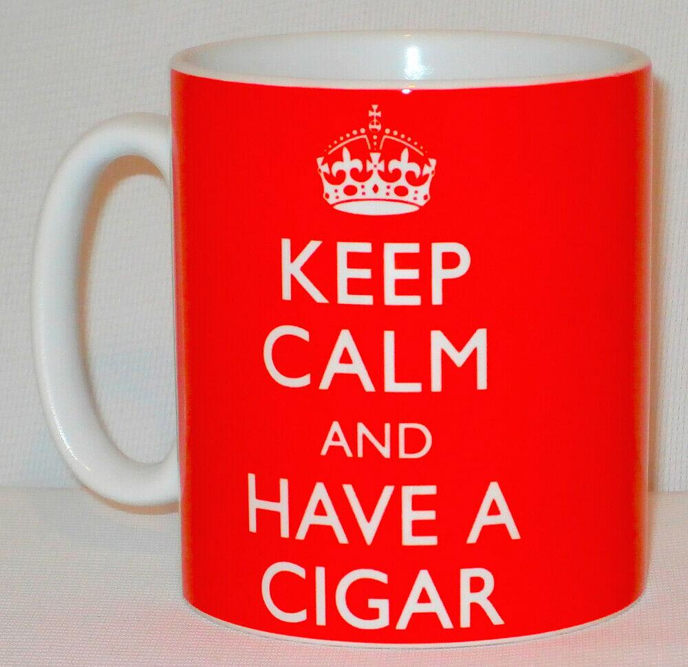 Keep Calm And Have A Cigar Mug Can Personalise Funny Smoker Cuban Cigarillo Gift