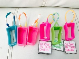 6 Bath & Body Works PocketBac Glow In The Dark Hot Pink Holder NEW with tag - $9.70