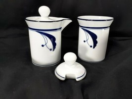 Dansk Flora Bayberry Creamer and Sugar Bowl With Notched Lid Microwave Safe - $19.62