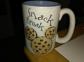 Hidden Mickey Disney Store Cookie Mugs unused Snack Break Coffee cup/mug - $10.00