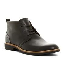 Ecco Men's Biarritz Lace Chukka Boot Black Leather Dress Comfort $200 ms... - $119.90