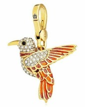 Juicy Couture Charm Hummingbird Red Goldtone NEW - $77.22