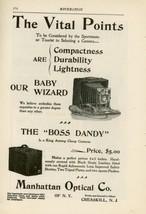 1899 Manhattan Optical Camera Ad Baby Wizard & Boss Dandy Models Cresski... - $15.00