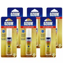 Ozium LOT OF (6) 0.8 oz vanilla Scent Air Freshener Eliminate smoke  - $20.78