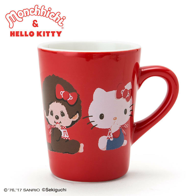 Primary image for Hello Kitty × Monchhichi Mug Cup SANRIO NEW Goods Limited Rare Japan Gift