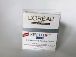 L'Oreal Paris Revitalift Hydrating Night Cream Anti-Wrinkle Firming 1.7 ... - $24.18