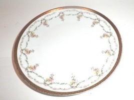 Porcelain Salad Plate MZ Austria Pink Flowers - $14.95