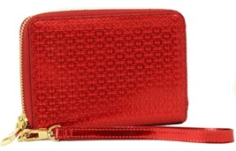 NWT TORY BURCH Metallic Embossed T Multi-Task Smartphone Wallet, Red - $101.15