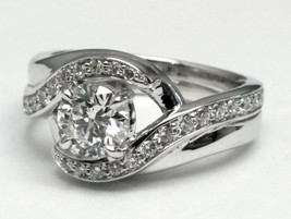 1.47 Carat Total Weight Entwined Engagement Ring - $12,701.25