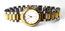 Womens Wittnauer White Stick Dial Two Tone Quartz Wristwatch JV2514 9565... - $29.69