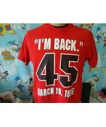 Vintage 90's Michael Jordan I'm Back #45 Chicago Bulls T Shirt L  - $74.24
