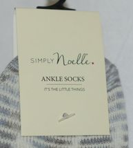 Simply Noelle Ankle Socks Grays Light Blues Cream Colors One Size Fits Most image 3