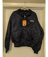 Alpha Industries CWU 45/P Flight Jacket Tactical XL blue USAF MJC22000C1 - $123.74