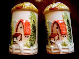 Vintage Salt Pepper Shakers M R Japan Pottery R... - $14.21