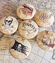 """Set Of Handmade Pirate Knobs Drawer Pull Set, 1.5"""" Nautical Knobs, Jolly Roger - $35.64"""