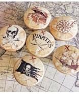 "Set Of Handmade Pirate Knobs Drawer Pull Set, 1.5"" Nautical Knobs, Jolly... - $35.64"