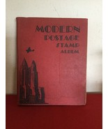 VINTAGE MODERN POSTAGE STAMP ALBUM LOADED WITH UNPICKED WORLD AND USA ST... - $350.00