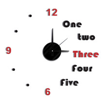 New! Diy Self Adhesive Wall Clock - Do It Yourself 3D Interior Time Clock - $12.82