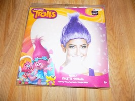 Adult One Size Dreamworks Trolls Purple Violet Troll Costume Wig Disguise New  - $16.00