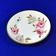 Royal Worcester Trinket Dish MARISSA Bone China Pink White Roses England 1974 - $8.50