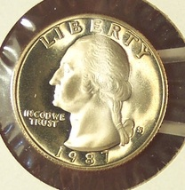 1987-S DCAM Proof Washington Quarter PF65 #0293 - $3.19