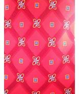 Jos. A. Banks Tie Geometric Silk Mens Necktie Red Italy - $3.50
