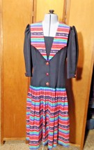 Vintage Eileen Scott Dallas Dress Size 8 Multi-Colored - $19.99