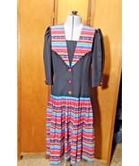 Vintage Eileen Scott Dallas Dress Size 8 Multi-Colored - $12.00