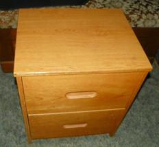 Oak 2 Drawer Nightstand - $299.00