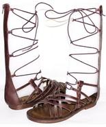 ✿ MIA Heritage Lenora Espresso Premium Leather Gladiator Sandals 7 M NEW... - $46.54