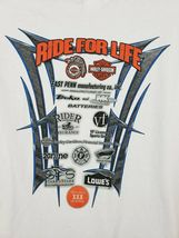 Harley Davidson Ride For Life Charity T-shirt White Size XL Eagle image 4