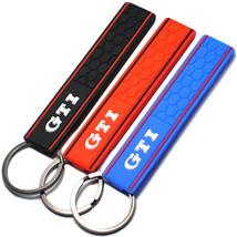 Silicone GTI Logo Emblem Badge Car Keychain Key Ring for VW Golf - €8,14 EUR